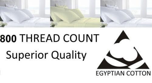 800 Thread Count T800 Duvet Set Pure 100/% Egyptian Cotton Bedding White /& Cream