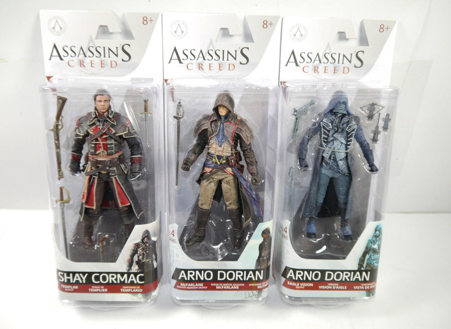 ASSASSIN'S Creed Set da 3 Shay Cormac + Arno Dorian + Eagle Vision Mcfarlane