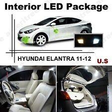 White LED Lights Interior Package Kit for Hyundai Elantra 2011-2012 ( 8 Pcs )