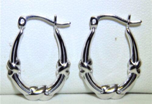 Aro pendientes Kiss Diseño de ARO OVALADO EN PLATA ESTERLINA 925 51040