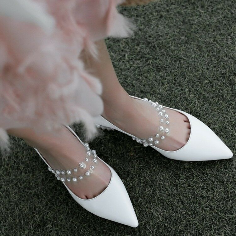 Damenschuhe Suede Pointy Toe Ankle Clear Ankle Toe Strap Block Mid Heels Prom Party Schuhes Hot b8a9e3