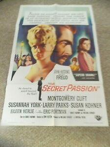 FREUD-THE-SECRET-PASSION-1963-MONTGOMERY-CLIFT-ORIGINAL-ONE-SHEET-POSTERS
