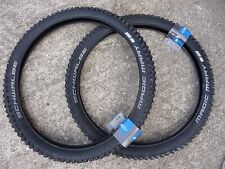 "TYRES Schwalbe MAGIC MARY 26x2.35"" Pair Addix Downhill DH MTB Wide Knobbly Tread"