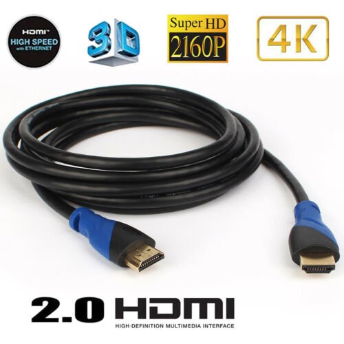 4K 60Hz HDR UHD 4:4:4 10Ft HDMI Cable -HDCP Audio Return Ethernet 2160p 1080P