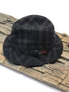 "bc9ccc6dacc Shandon Hat Cap 100% Wool Fedora Ireland Tweed Men Med 21""Gray Brown ..."