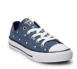 66eaec78833c Converse Chuck Taylor All Star Ox Polka Dot Shoes Girl s Navy White ...