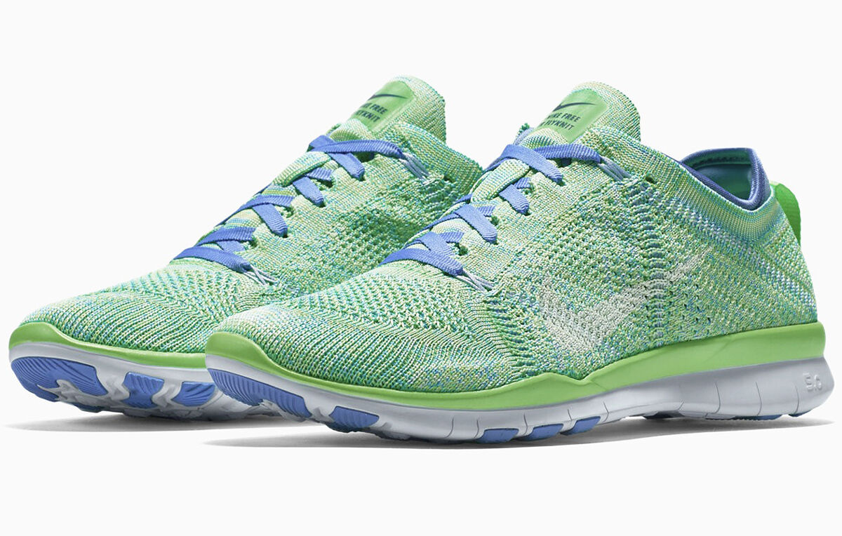 NIKE FREE TR FLYKNIT 5.0 VOLTAGE GREEN Gr.38,5 39 motion 718785-301 3.0 fit rn
