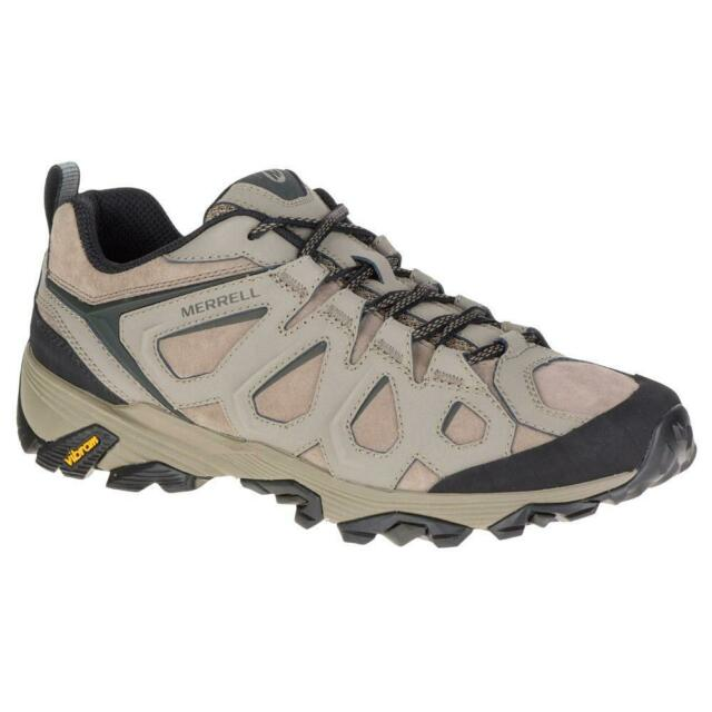 ebe679d4d7a Mens Merrell Shoes Moab FST Leather Waterproof Boulder Brown Low Hiking  Boots