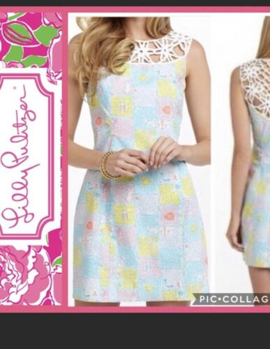 Lilly Pulitzer Shift Dress Zodiac Pastels Lace Soz