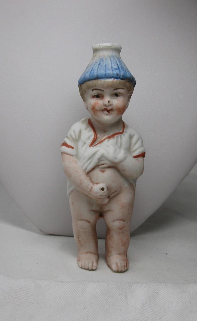 Victoriano Niño Travieso muñeca alemana Pee Pee Miniatura sopa de Squirter 1900