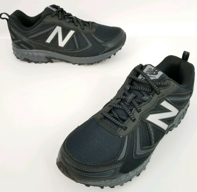 Mens NEW BALANCE 410v5 Black Trail Running Shoes All Terrain Sz 8 Extra Wide 4E