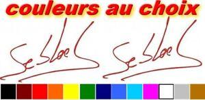 2 Stickers Autocollant Signature Sebastien Loeb Champion Rallye Avec Les éQuipements Et Les Techniques Les Plus Modernes