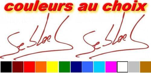 2 stickers autocollant SIGNATURE sebastien loeb champion rallye