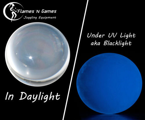80mm CLEAR UV ACRYLIC CONTACT JUGGLING BALL