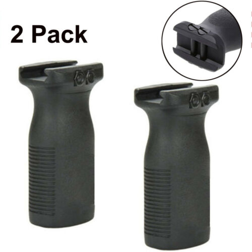 2PCS Tactical RVG Rail Vertical Grip Front Grip Forward Foregrip FOR Picatinny