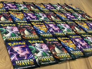 Pokemon-HIDDEN-FATES-36-Booster-Packs-Lot-box-FACTORY-SEALED