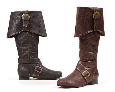 Brown Pirate Medieval Knight Renaissance Faire Mens Costume Boots size 12 13