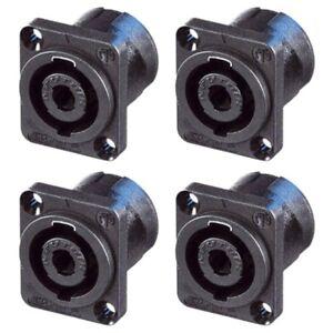 6017 £2 each pack of 5 Speakon Socket Neutrik NL4MP 4 Pole