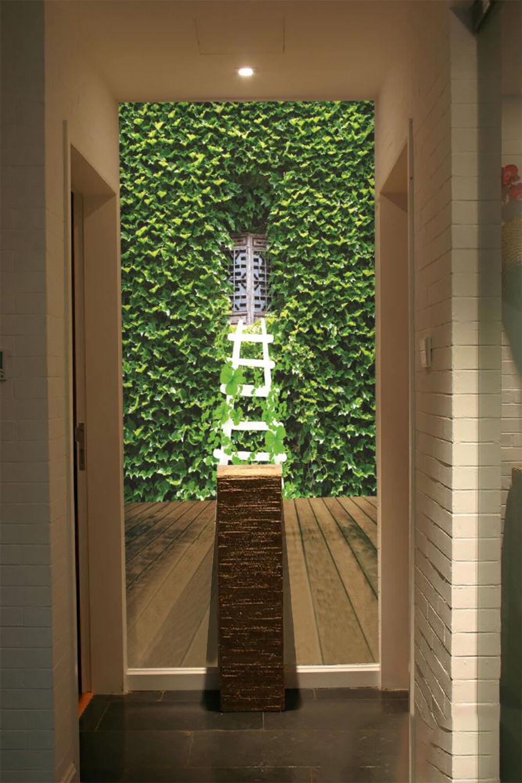 3D Plants Window 75 Wall Paper Murals Wall Print Wall Wallpaper Mural AU Summer