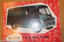 Austin 1 and 1 1/2 Ton Vans Sales Brochure Pub No 1919