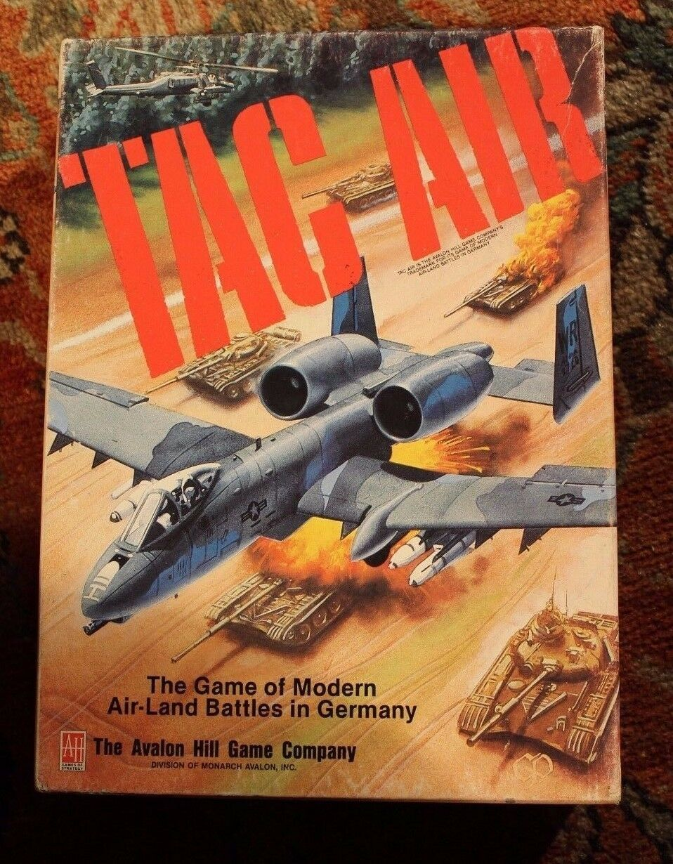 TAC AIR AVALON HILL 1988 VINTAGE  tavola WAR gioco GREAT CONDITION  solo per te