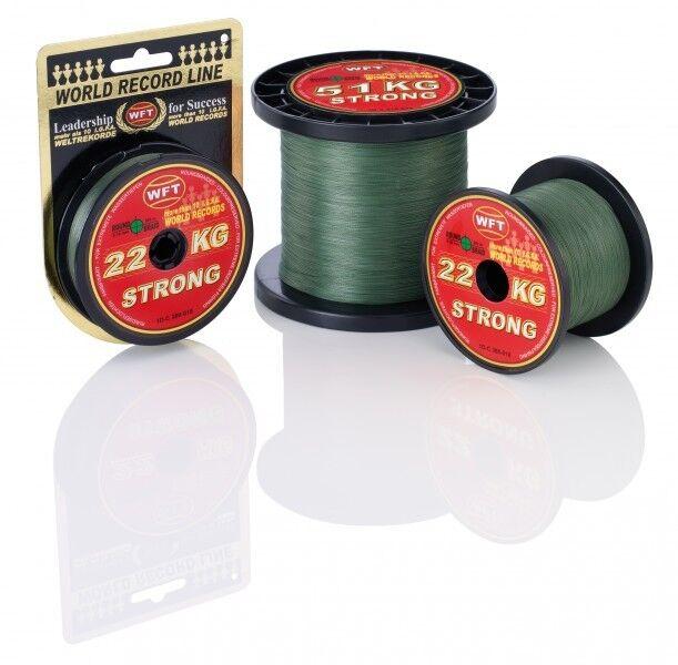 ( /1m) WFT KG STRONG grün Schnur 1000m 0,08mm grün STRONG 10kg geflochtene Schnur 4b5f30