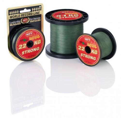 WFT KG STRONG Schnur 1000m 0,08mm grün 10kg geflochtene Schnur 0,14€//1m