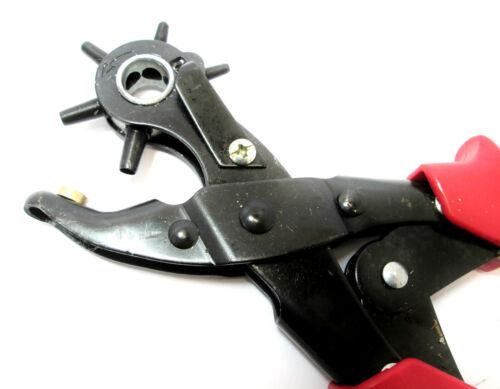 Foro girevole Punch Pinze Heavy Duty Cinture in Pelle Pinza HOBBY PL292