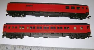 2-X-Heavy-Weight-Rivarossi-Replicas-of-034-1926-Cardinal-039-s-Train-034-HO-Passenger-Cars
