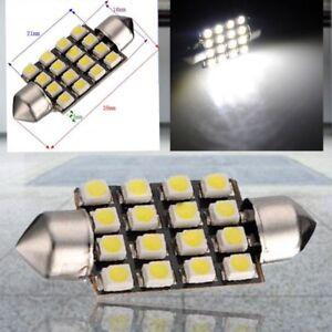 10X-Blanco-Car-Interior-Dome-C5W-SMD-16-LED-Festoon-Bombilla-Luz-39mm-12v-N-V7D9