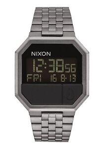 Nixon-Men-039-s-Watch-Women-039-s-Steel-Re-Run-all-Gunmetal-Waterproof