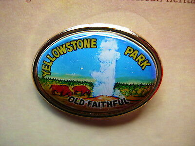 Yellowstone Lapel Pin /— National Park Series Old Faithful