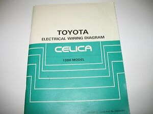 1986 toyota celica electrical wiring diagram manual oem very good rh ebay com