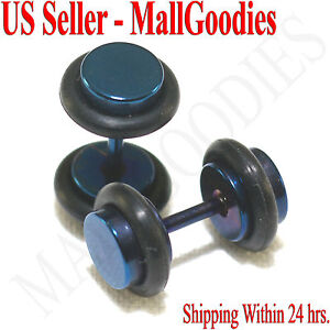 2098-Fake-Cheater-Illusion-Faux-Ear-Plugs-16G-Surgical-Steel-2G-6mm-Blue-Small