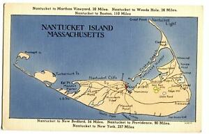 Postcard-Map-Nantucket-Island-Massachusetts-MA