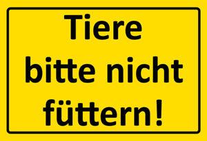Animaux-Plait-Pas-Nourrir-Pancarte-en-Tole-Signe-Metal-Voute-Etain-20-X-30-Cm