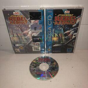 VGC-Star-Wars-Rebel-Assault-Sega-CD-Complete-Game-CIB-Tested-Works-Great-Fun