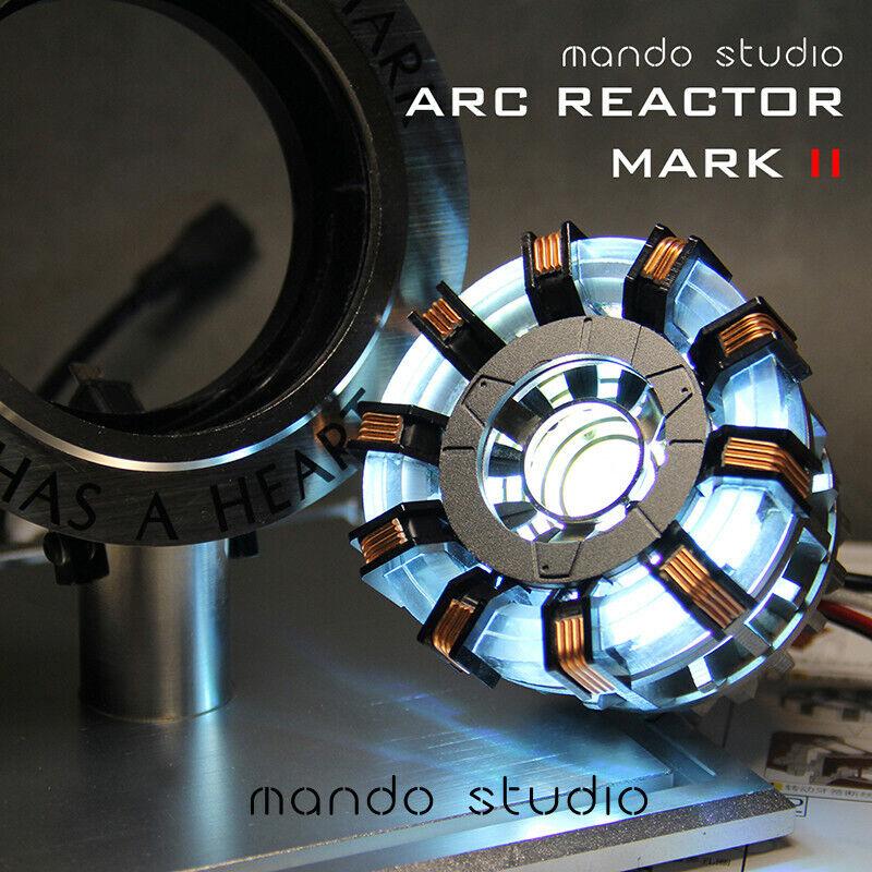 Iron Man Scale Arc Ark Tony Stark Heart Pioneer Reactor Model Kit Lights Figures