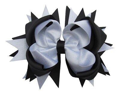 "NEW /""Apple /& Bookworm/"" Hairbow Grosgrain Ribbon Hair Bow Alligator Clip Girls"
