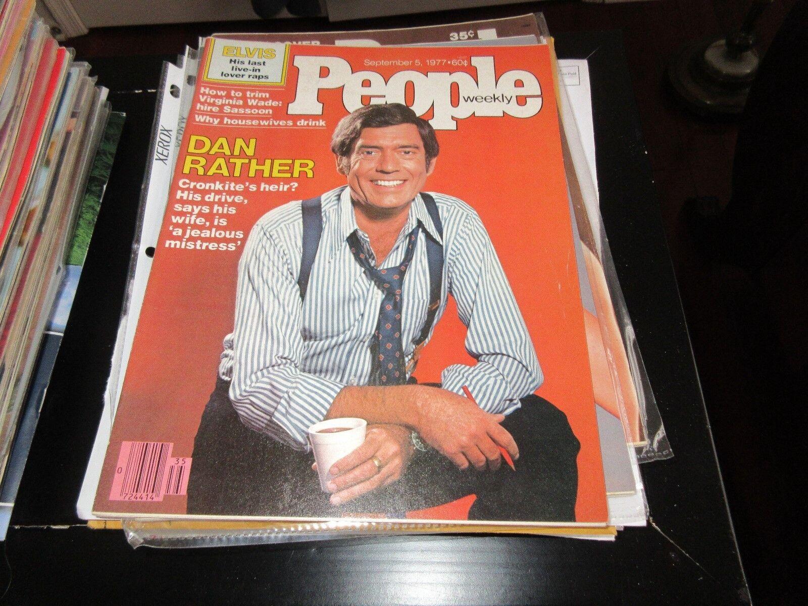 PEOPLE MAGAZINE , 9/5/77 ,Dan Rather , Elvis ,Virginia