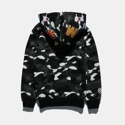 A Bathing Ape Bape Shark Camouflage SPACE Hoodie Coat Full Zip Jacket Sweater