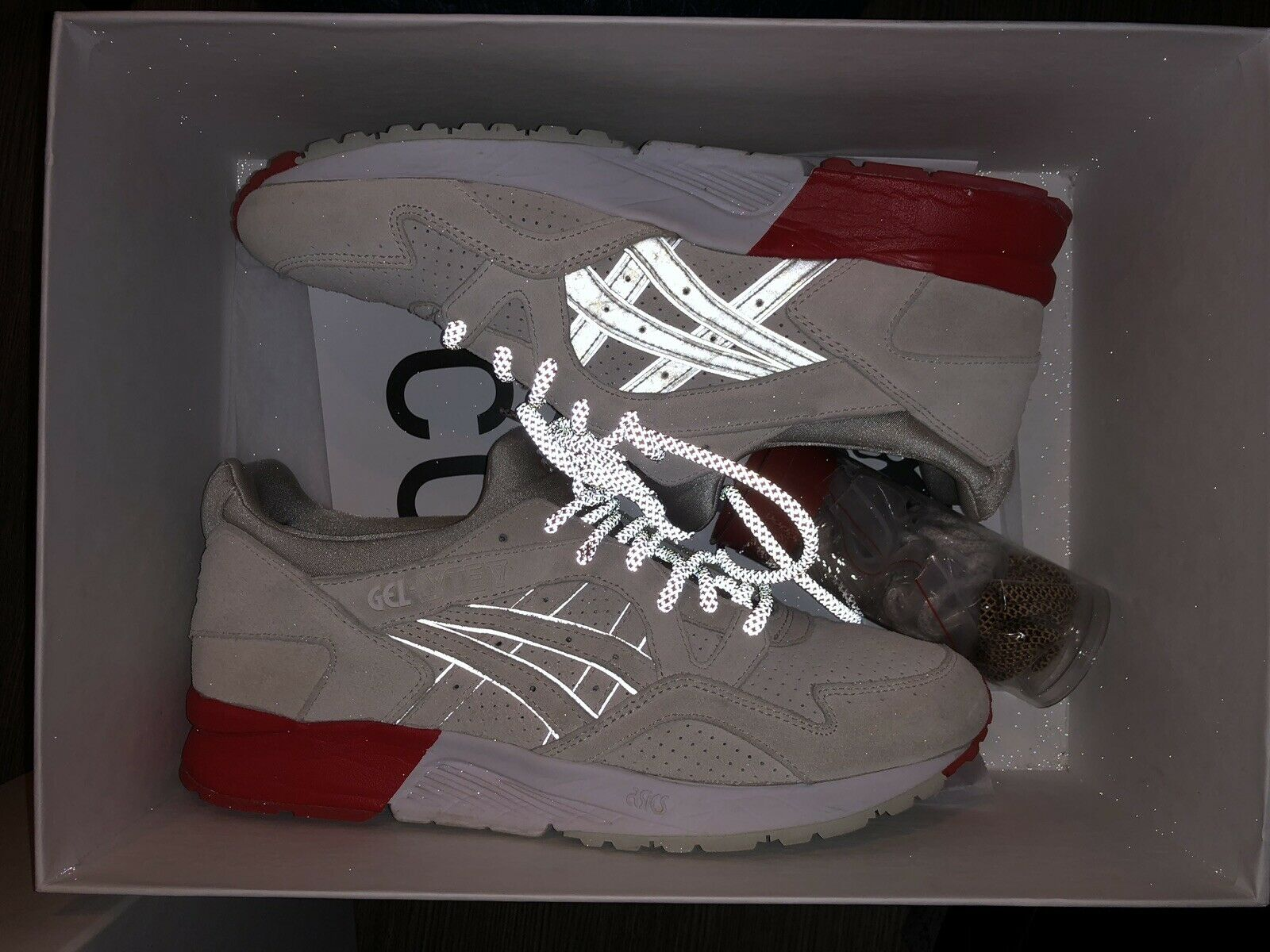 Details about Asics Gel Lyte iii 3 Kith x Moncler Cream white Sz 10.5 HK729 0000 new no box