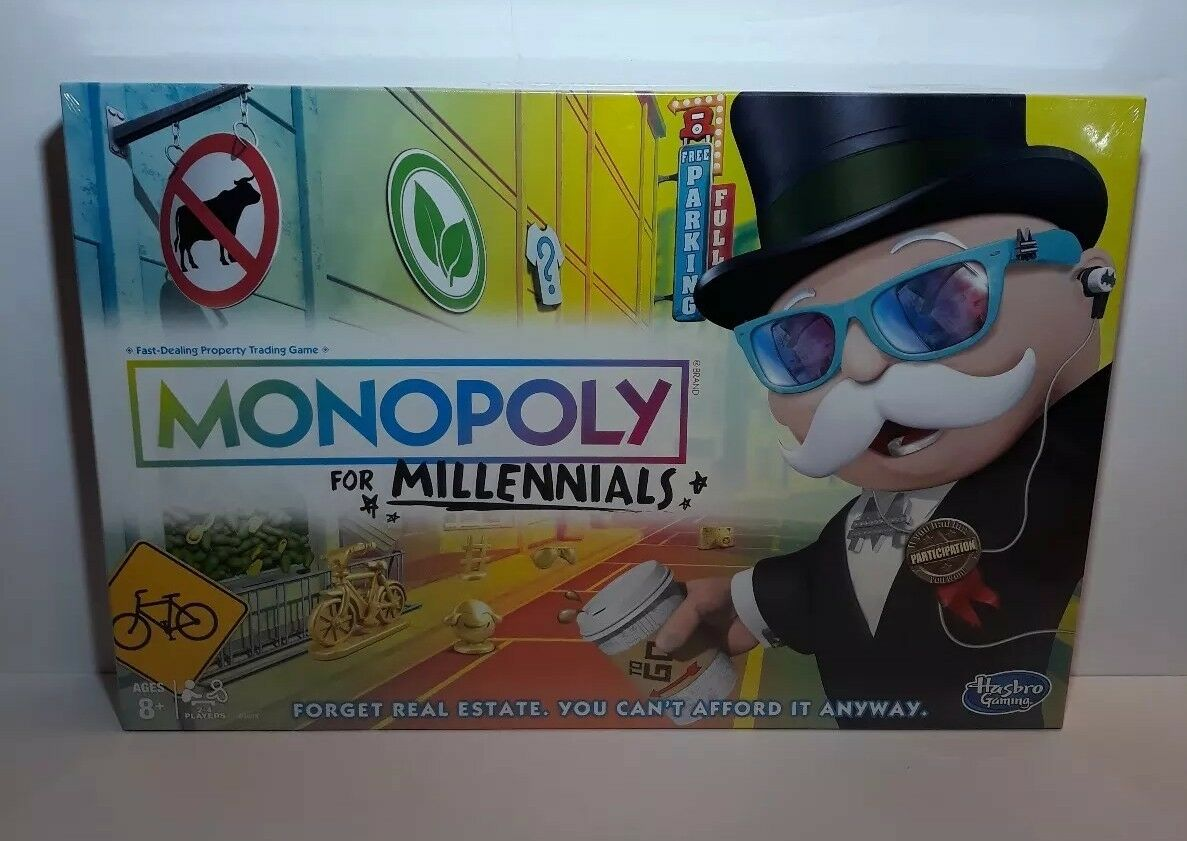 Monopoly pour Loc Edition Board Game millenials HASBRO HOT Noël Jouet