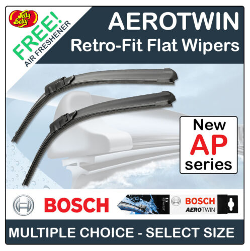 BOSCH 'AP' AEROTWIN RETROFIT FLAT FRONT WIPER BLADES - ALL SIZES 13 TO 32
