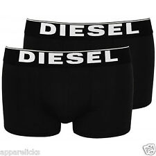 2 Pack of Diesel Men's Black Boxer Shorts Underwear