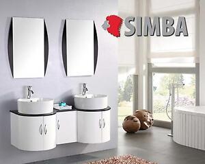 Details zu Muebles para baño para cuarto de baño con espejo baño 138 cm  grifos incluido tig