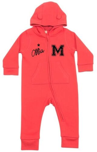 Toddlers Personalised All In One Customised Printed Varsity Glitter Babies Girls