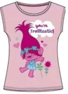 022ea0e9e Details about Trolls Poppy Branch Girls Official DreamWorks T Shirt Top Age  6-12 NEW ARRIVAL