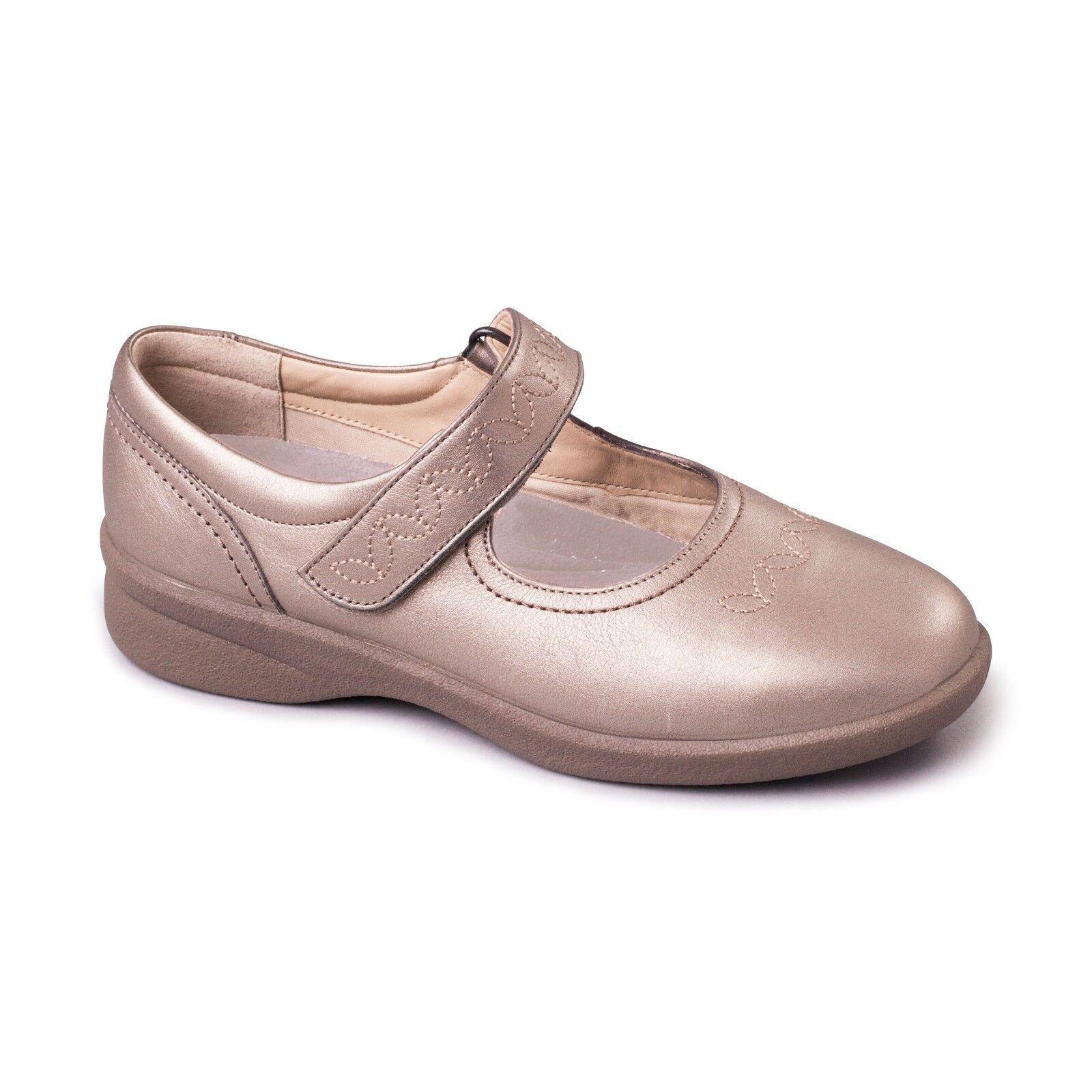 Moda barata y hermosa Descuento por tiempo limitado Padders Sprite 2 Ladies Casual Mary Jane Wide 3E/4E Dual Fitting Shoes Pewter