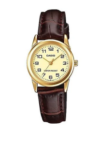 Casio-LTP-V001GL-9B-Brown-Leather-Watch-for-Women